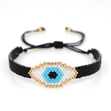 SHINUSBOHO Men Bracelet Delica Evil Eye Fatima Brac