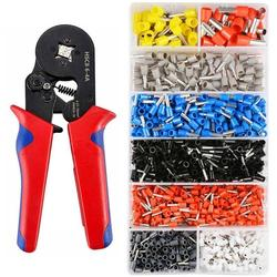 1200pcs Cold Pressing Terminal Diagonal Pliers Wire Cable Side Flush Cutter