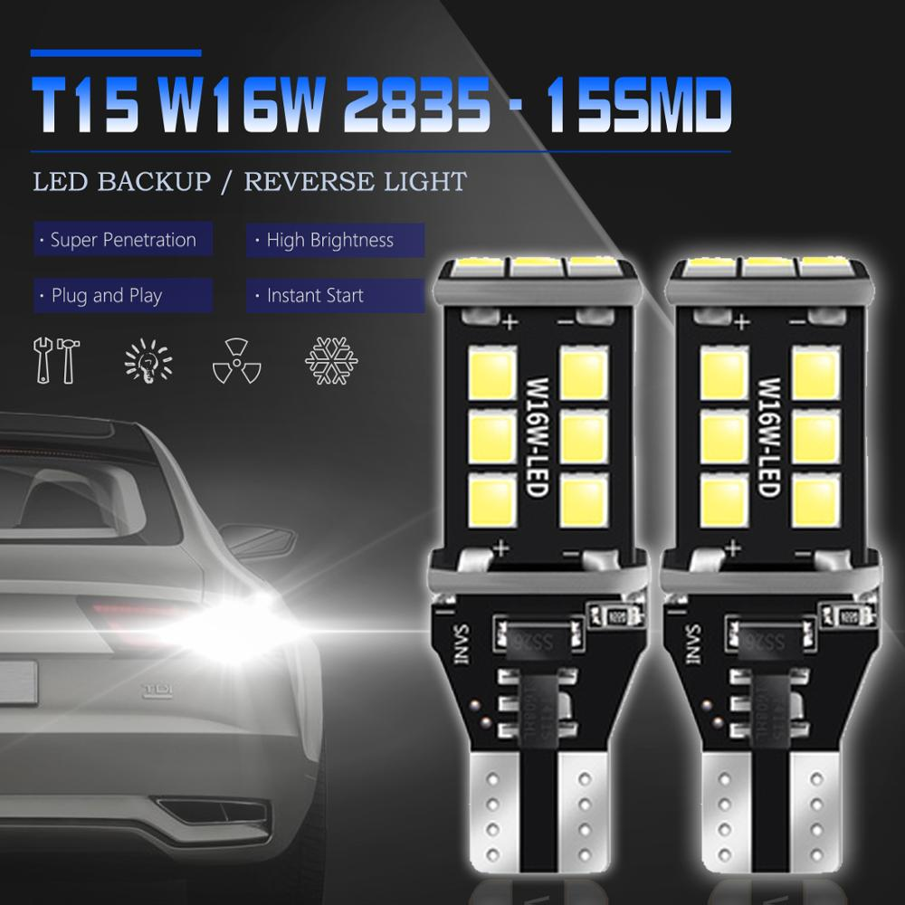 2PCS W16W T15 LED CANBUS Car Backup Reserve Lights Bulb NO OBC ERROR Tail Lamp For Lada Granta Niva Priora Kalina Xray Vesta