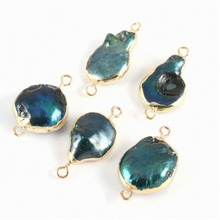 New Natural Shell Connector Irregular Pearl Charms Pendants For Jewelry Making Supplies Necklace Accessories