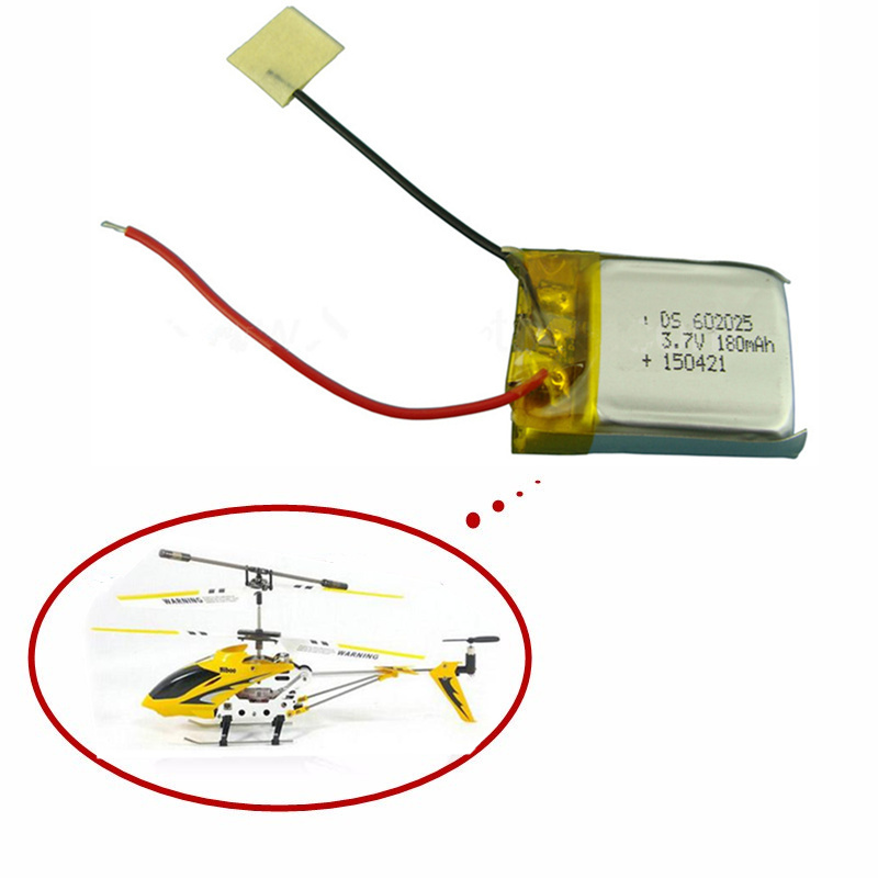 3.7V 180mAh Lipo Battery For Skytech M3 M3 Syma S107 S107G Replacement Spare Parts For Syma Skytech RC Helicopter 1pcs