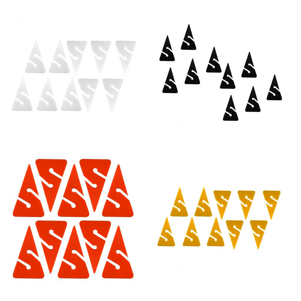 Pack 10 Ultralight Triangle PVC Line Arrow Markers For Safety Scuba Dive Cave And Wreck Diving