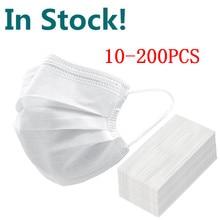 FILTER Mascarillas Face-Mouth-Mask Protective Disposable Masche White 3-Layers Non-Woven