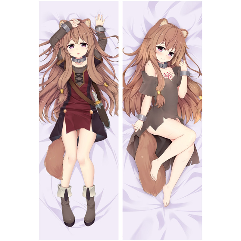 Jpanese Anime Dakimakura Tate no Yuusha no Nariagari Hugging Body Pillow Case Raphtalia Otaku Sexy Girl Two-Side pillowcase Gift