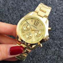 CONTENA moda klasyczne zegarki damskie luksusowe złoto ze stali nierdzewnej analogowe zegarki kwarcowe damskie zegarki Reloj Mujer zegar tanie tanio WoMaGe QUARTZ NONE Bransoletka zapięcie CN (pochodzenie) STAINLESS STEEL Nie wodoodporne Moda casual 18mm ROUND 12mm