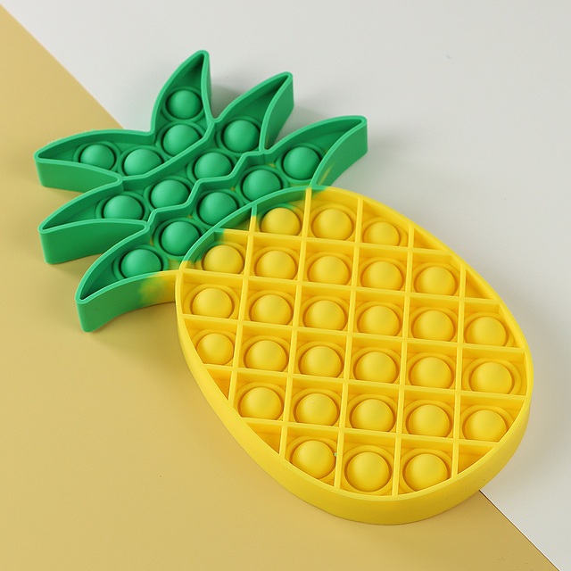 Yellow Pineapple Food Simple Fidget Toy Push Bubble Stress Sensory Toy Relief Anti-stress Hand Game Toys 2