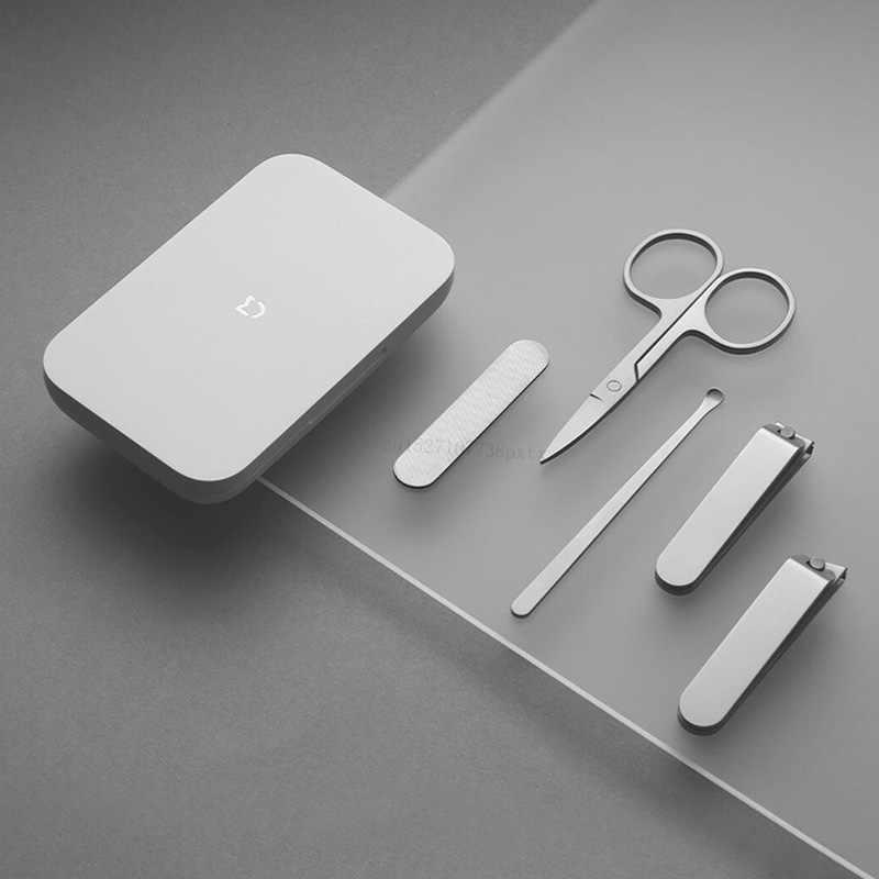 5pcs Xiaomi Mijia tagliaunghie in acciaio inossidabile Set Trimmer Pedicure cura tagliaunghie Earpick lima per unghie strumenti di bellezza professionali