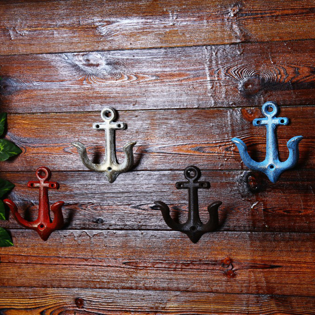 Metal Anchor Hooks Wall Door Mounted Clothes Towel Hat Key Hanger For Hat Coat Handbag Storaging Case