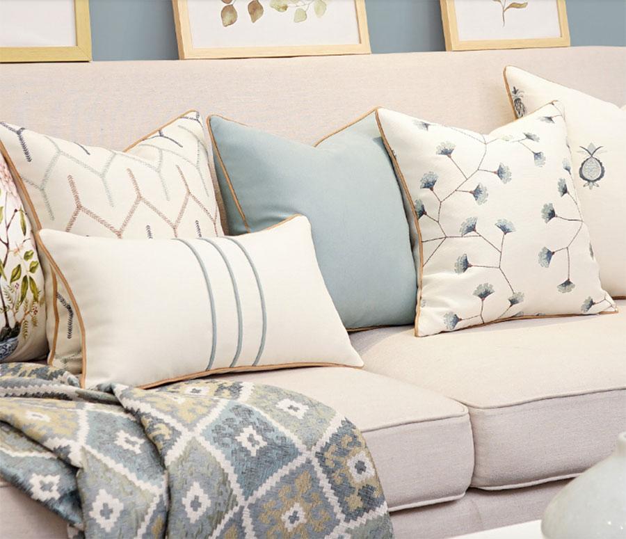 Vintage Elegant Flower Pillow/almofadas Case,modern Geometric Seat Back Cushion Cover 45 50 60,decorative Throw Pillow Case