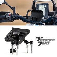 Motosiklet gidon standı tutucu telefon cep telefonu GPS navigasyon için plaka braketi Yamaha Tenere 700 T7 T700 XT 700 Z