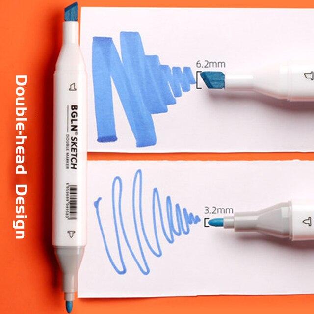 Zestaw długopisów akwarelowych Bergino Touch oryginalna dwugłowy biały biegun w pełnym kolorze animacja początkujący elementarny