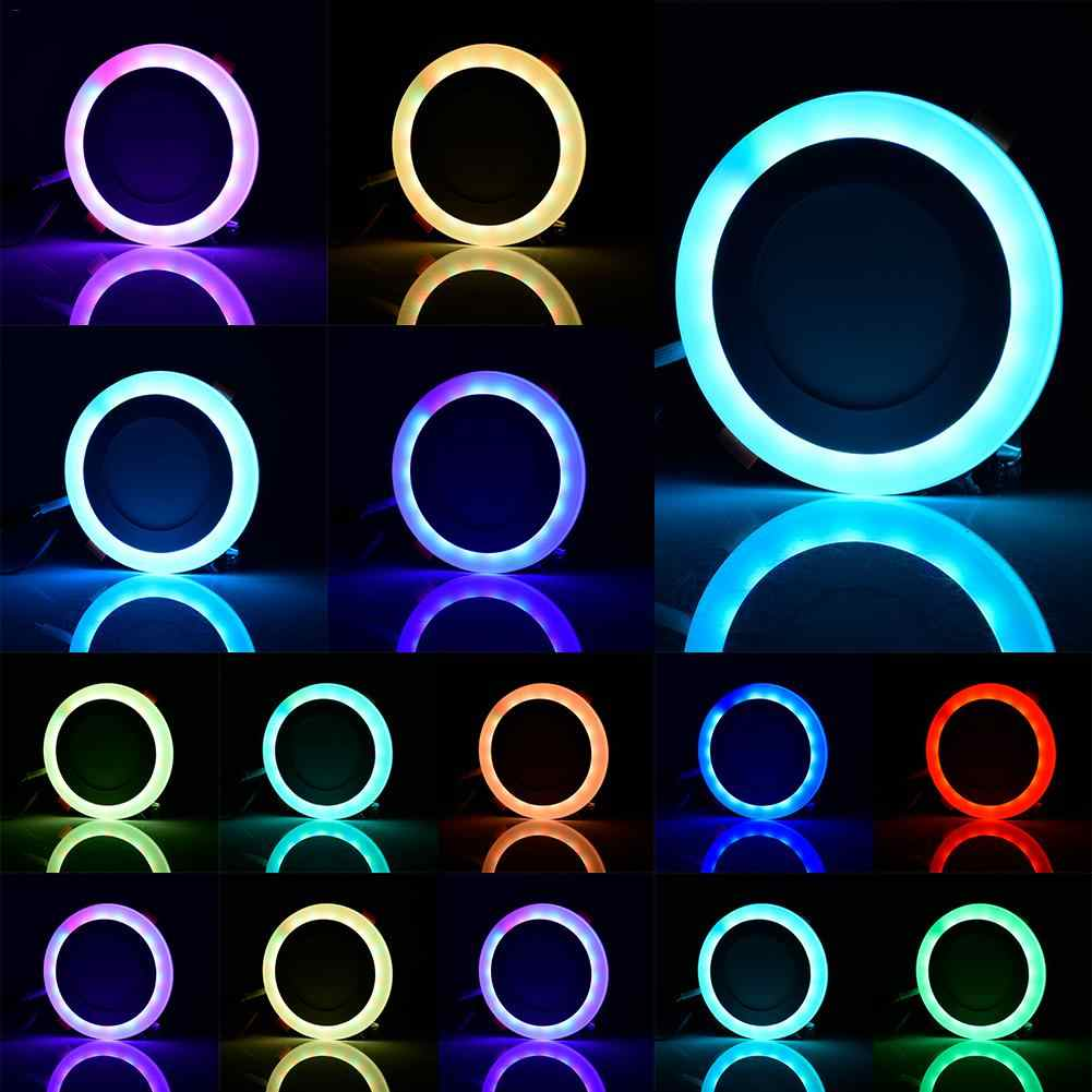 Nieuwe RGB LED Plafondlamp Lamp AC85-265V Kleur Veranderende RGB Magic LED Light Spotlight + Ir-afstandsbediening