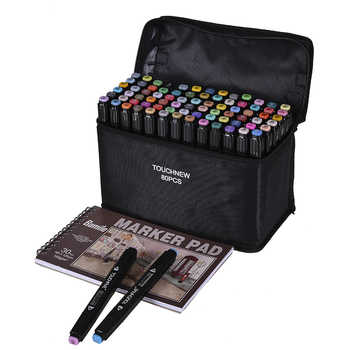 TouchFIVE Color Art Marker pen Oil Alcohol based Drawing Artist Sketch Markers Pen For Animation Manga Art Supplies - DISCOUNT ITEM  54 OFF Education & Office Supplies