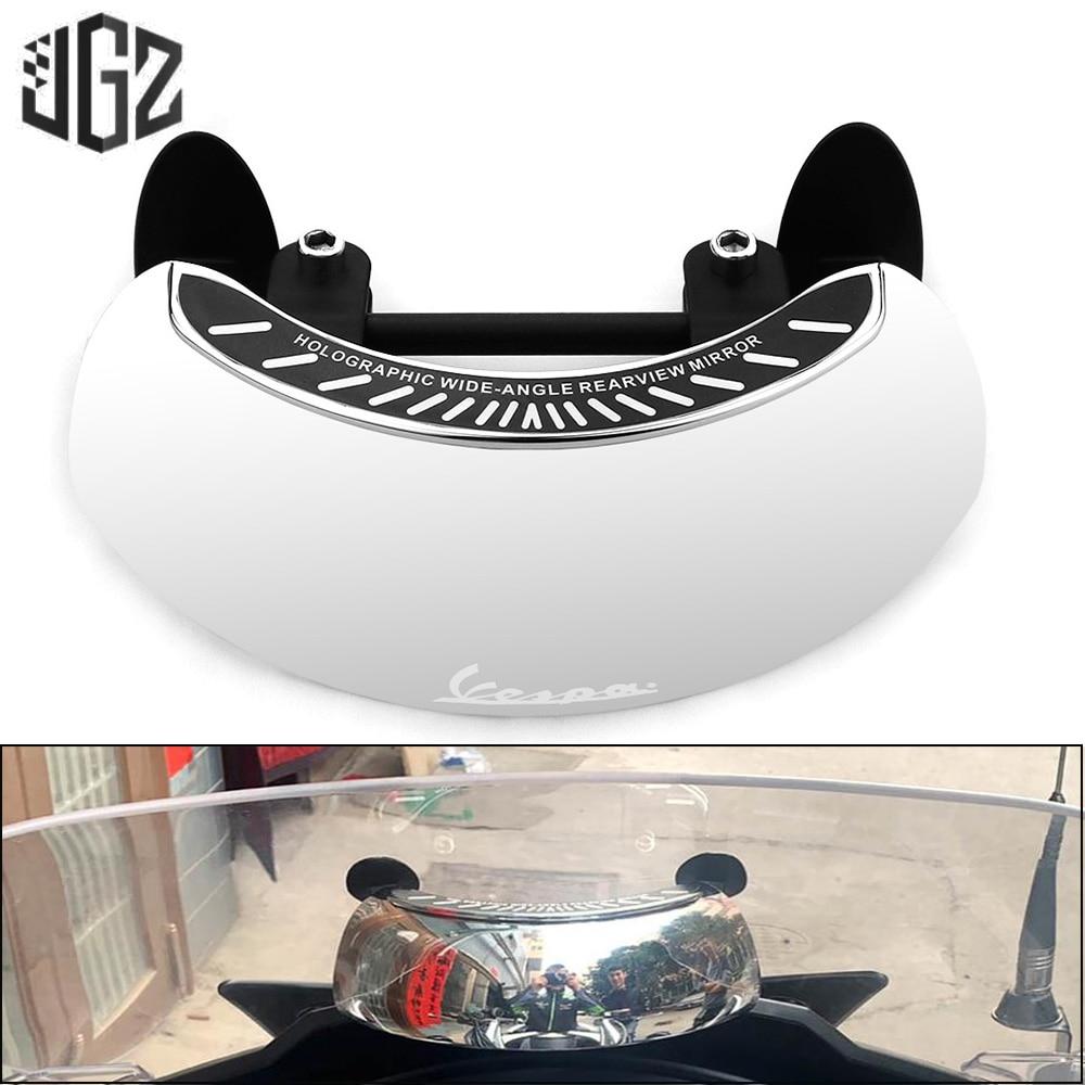 Motocicleta pára-brisa espelhos retrovisores 180 grande angular hd espelho para vespa gts 300 250 lx sprint primavera 150 s 125 200 piaggio