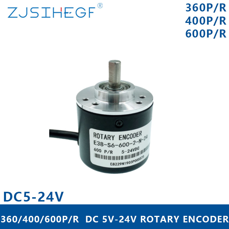 360//600P//R Photoelectric Incremental 6mm Rotary Encoder AB Two Phases Shaft