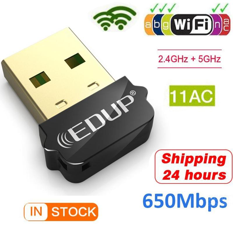 New 5Ghz Wifi Adapter 650Mbps Dual Band USB Wifi Adapter USB Lan Wi Fi Dongle Wifi Card Wi-fi Receiver Usb Ethernet Wifi USB