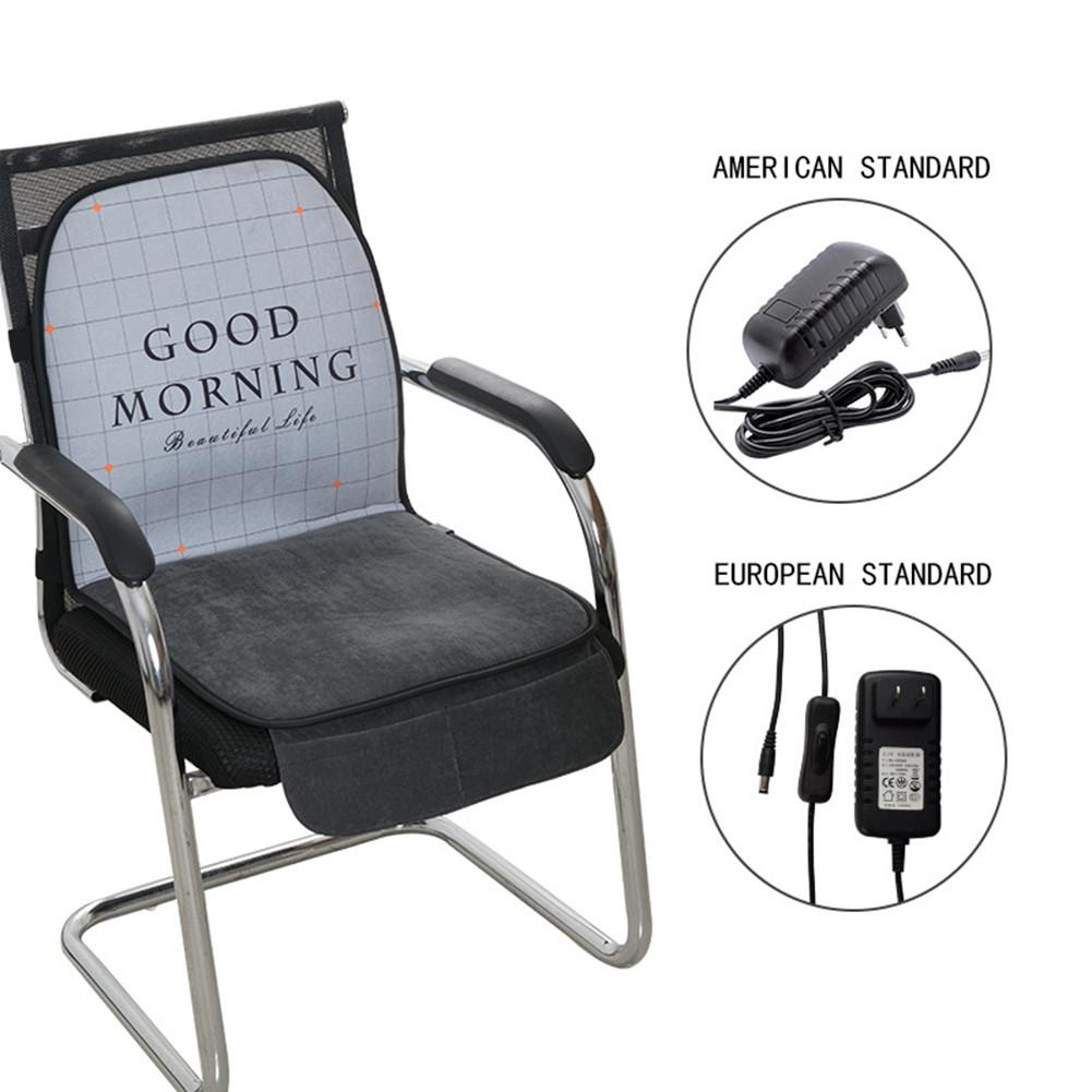 Heated Seat Cushion Heating Pad Integrated Letter Printed Winter Cushion Heater Warmer For Home Office Seat