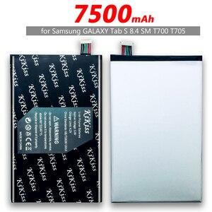 Бесплатный инструмент 7500 мАч планшет литий-ионный полимерный аккумулятор для Samsung GALAXY Tab S 8,4 SM T700 T705 EB-BT705FBC SM-T700 + трек-номер