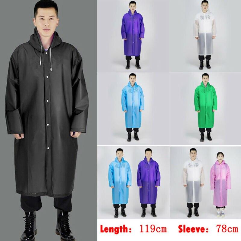 Women Men Waterproof Wind Jacket Hoodies Outdoor Raincoat Outwear Coat One Size