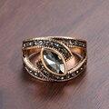 Kinel Boho Этнические Свадебные кольца с кристаллами для невесты античные золотые кольца с большим цирконием для женщин винтажные Свадебные ук...