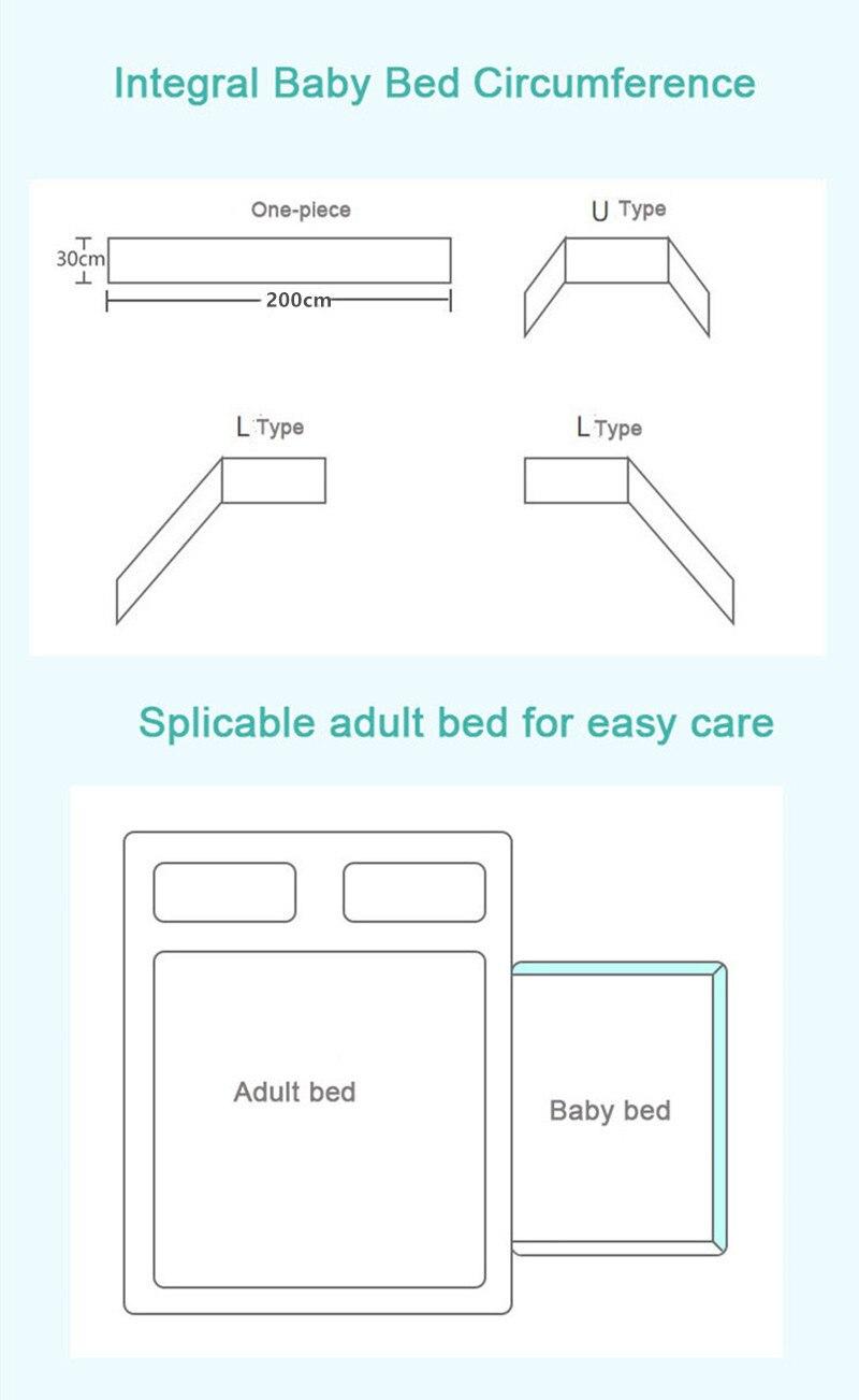 Детская кровать с скандинавскими звездами, уплотненный бампер, цельная кроватка, защита для кроватки, подушки для новорожденных, декор для комнаты 6