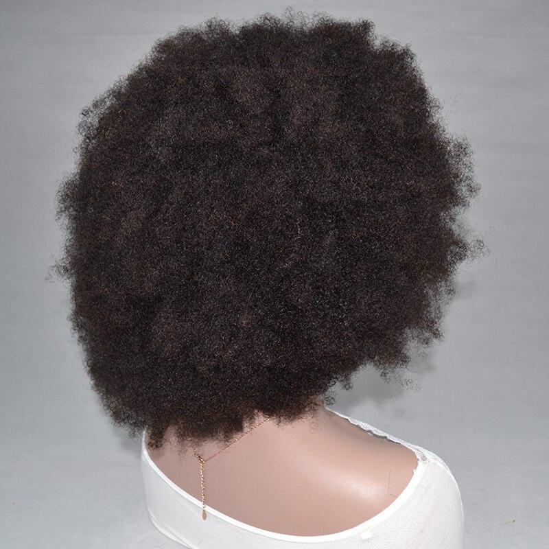Качающийся лес кружева передние человеческие волосы парики афро кудрявый парик кудрявый вьющиеся человеческие волосы парики предваритель... - 5