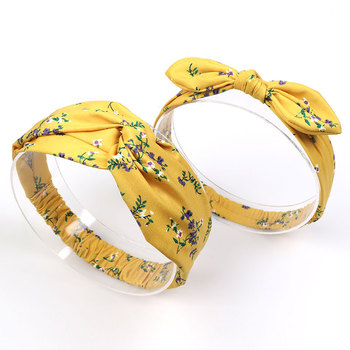 yellow chiffon headband