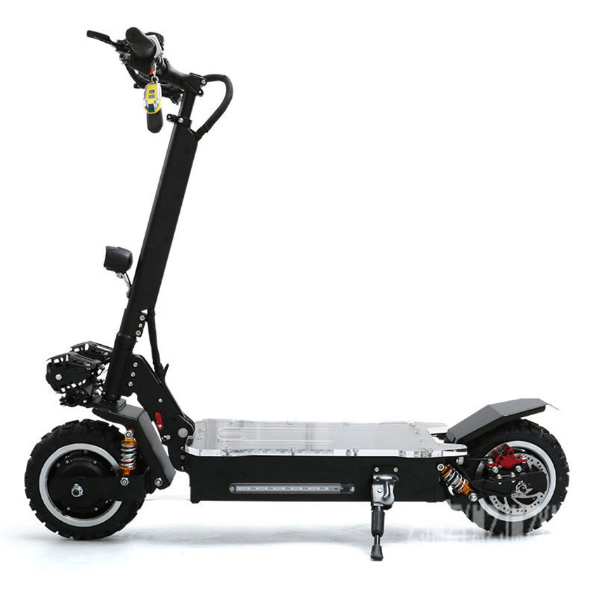 11 inch wheel Dual Drive 1600W*2 <font><b>Electric</b></font> Off-road <font><b>Scooter</b></font> Skateboard <font><b>Electric</b></font> <font><b>Scooter</b></font> With Flashing Night Light <font><b>60V</b></font> 20AH/25AH image
