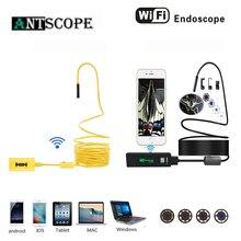 Antscope Wi-Fi 8-миллиметровый эндоскоп с поддержкой 1/2/3,5/5/10 M желтого и черного цветов Проводной 1200P Android iOS камера эндоскопа инспекции boroscopio 30