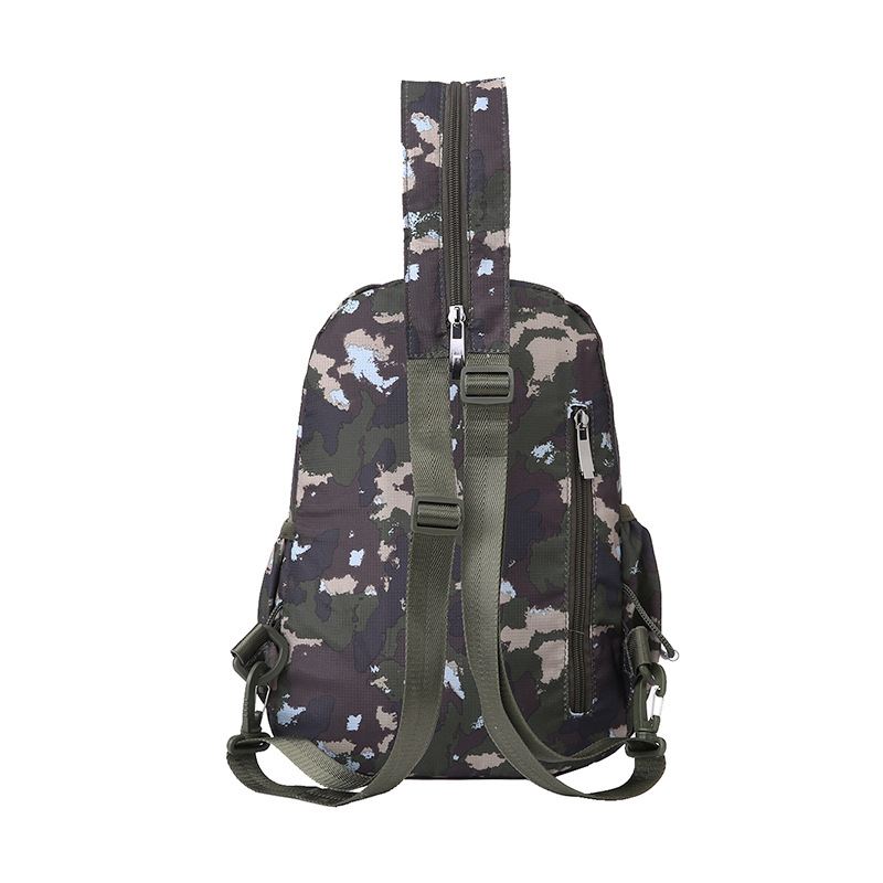 New Style Nylon Backpack Casual Men Chest Pack Shoulder Bag Women's Outdoor Multi-functional Camouflage Backpack Travel Bag
