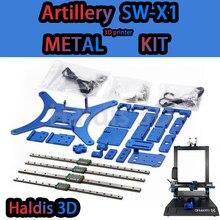 Haldis 3D Rattlesnake Artillery SW-X1 3D Printer Metal aluminum Plate upgrade kit includes screw wire rail