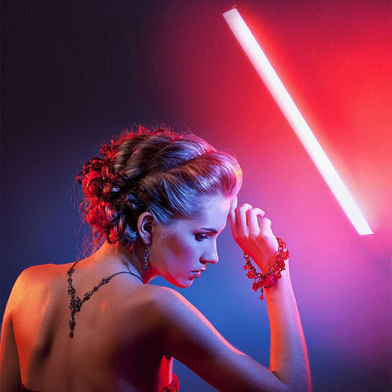 Kısılabilir el LED Video işığı 3200K 5600K RGB dondurma çubuğu fotoğraf işık sopa