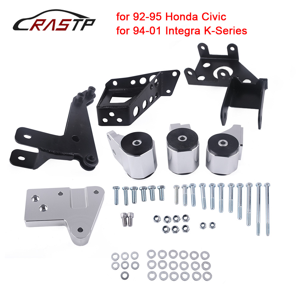 RASTP-70A K-series Engine Mounts For Honda Civic 92-95 EG K20 K24 K-series EG Motor Swap Kit With Logo RS-EM1006