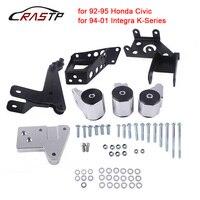 RASTP 70A K series Engine Mounts for Honda Civic 92 95 EG K20 K24 K series EG Motor Swap Kit with logo RS EM1006