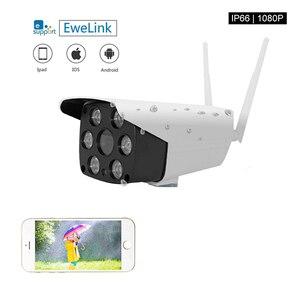 EWeLink водонепроницаемая IP-камера Smart IOT камера 1080P наружная двусторонняя аудиосвязь с ночным видением ИК светодиодная камера