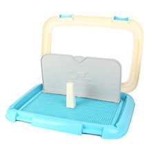 Portable Pet Training Toilet Dog Cat Toilet Tray With Column Urinal Bowl Pee Training Housebreaking Grid Cleaning Supplies(China)