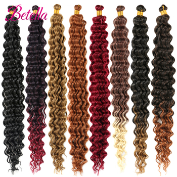 Deep Water Wave Twist Crochet Hair Crochet Braid Ombre Braiding Hair Extensions Synthetic Afro Curls For Women Low Tempreture 2