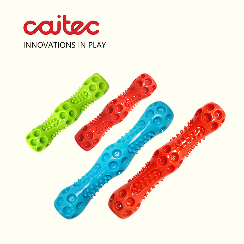 CAITEC Dog Toys Squeaking Stick Floatable Springy Suitable for Tossing and Chasing Very Soft Pet Toy 2 Sizes Available