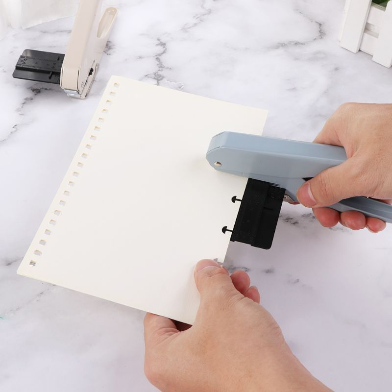 Mushroom Hole T-type Office Punches Paper Cutter Loose Sheet DIY School Supplies Scrapbooking Puncher Binding Holes M17F