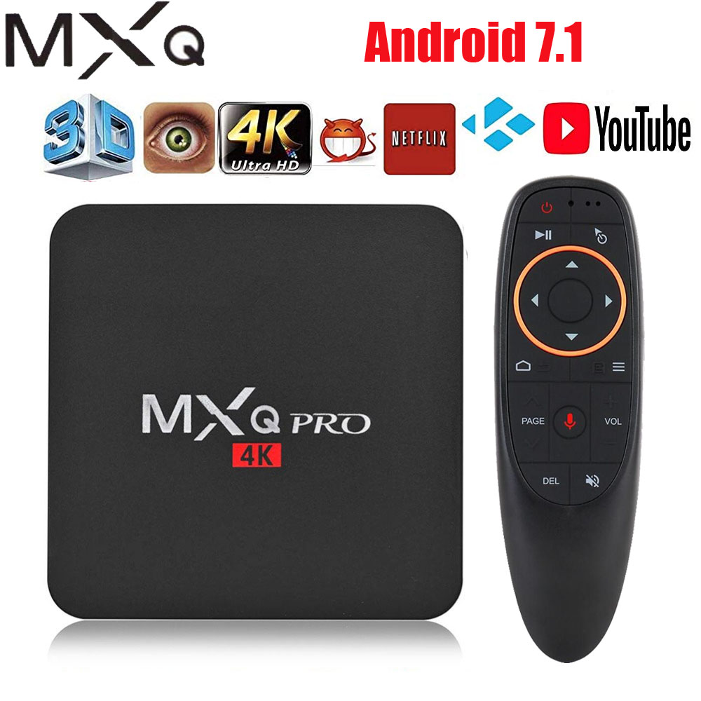 Android tv box MXQ pro 4K Android 7.1 HD 3D 2.4G WiFi S905W Quad Core Media Player smart tv android tv box can Subscribe IP TV
