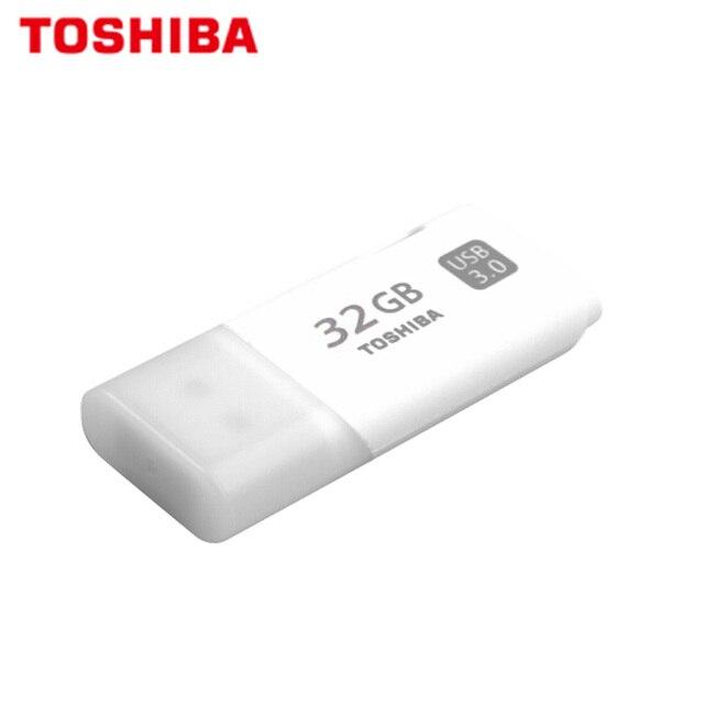 100% מקורי TOSHIBA U301 USB 3.0 דיסק און קי 32gb עט כונן מיני זיכרון מקל Pendrive U דיסק לבן אגודל פלאש דיסק