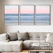 Современная цветная Картина на холсте океана с принтами море