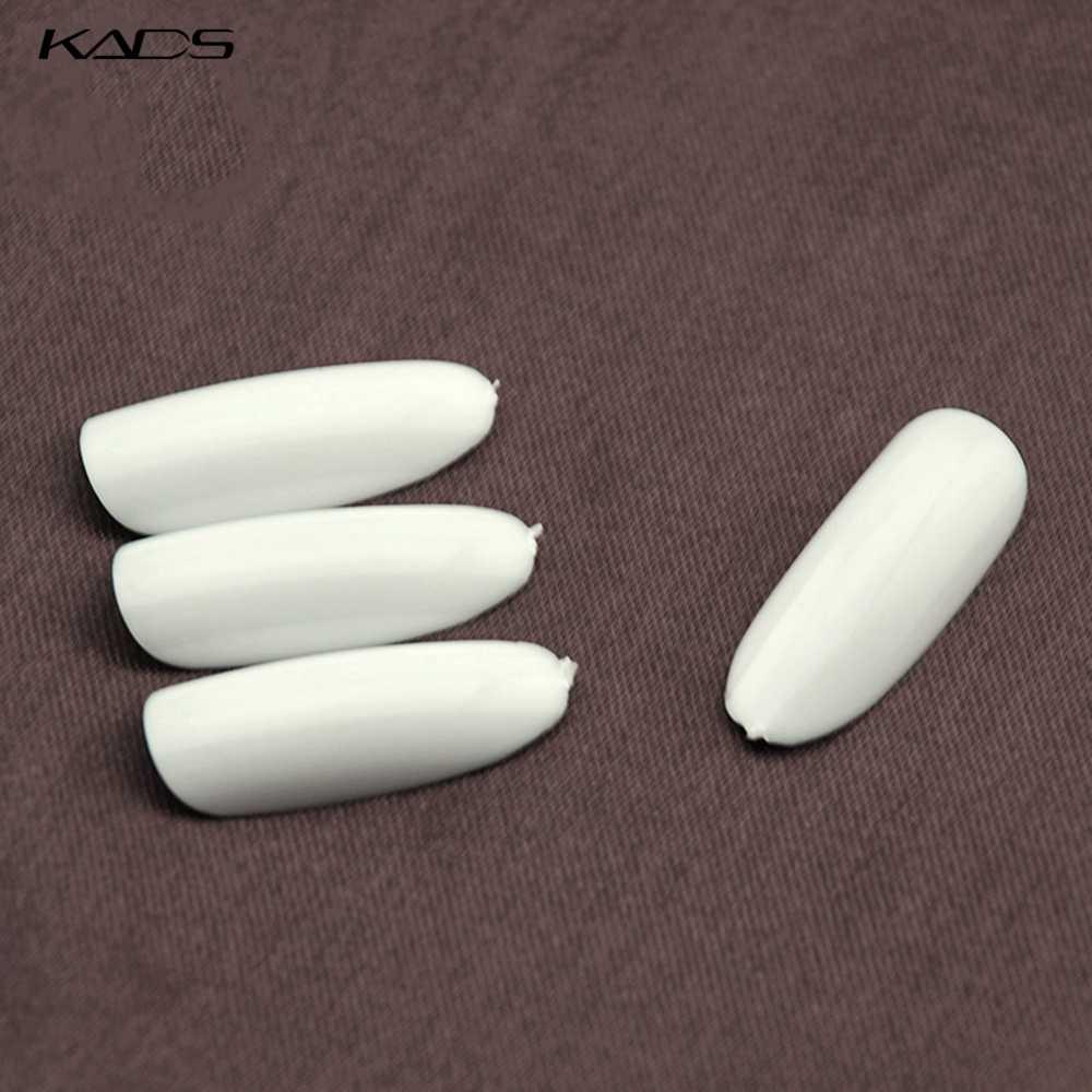 KADS 500 шт./пакет Ясно/Натуральный/Белый Nail Art Круглый Конец Овальные Накладные Ногти Накладные Ногти Советы Французский Маникюр искусственные Ногти