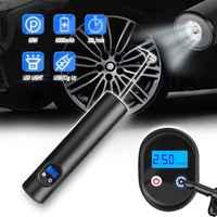 ES CN FR 12V 150PSI USB interface compresseur d'air pompe gonflable avec écran LCD pour voiture vélo pneus balles natation anneaux 6000mA