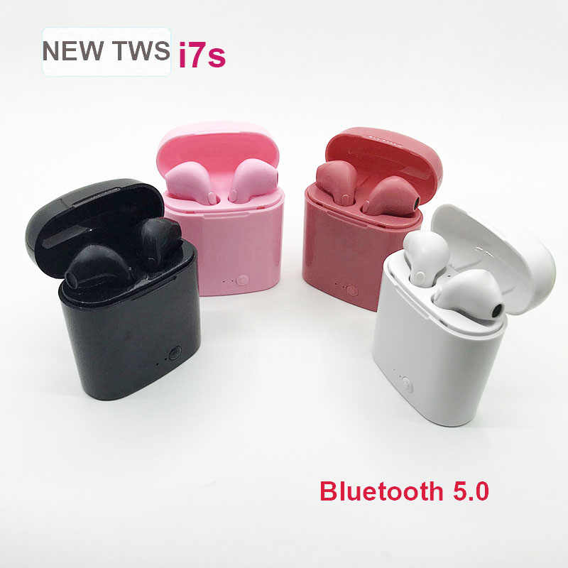 i7S TWS Wireless Headphone Bluetooth Earphone Bluetooth Headset Handsfree Earbuds with Mic for Xiaomi Samsung iphone Android