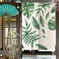 85*120 см  японский стиль  зеленые листья  принт  детский дверной проем  занавеска  разделитель для спальни  штора  современная спальня  занавес...