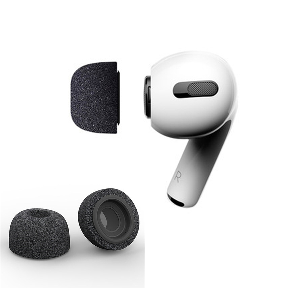 Sponge Silicone Air Foam Ear Tips Buds For Apple Airpods Pro Headphones Accessories Replacement Earphone Ear Buds Earbud