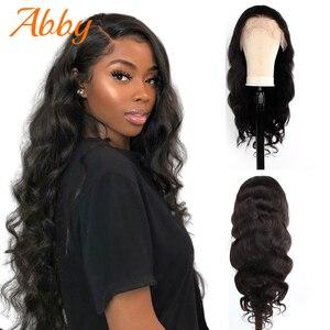 Волнистые 360 кружевные фронтальные человеческие волосы парики Abby волосы малазийские 150% плотность prepucked парик шнурка естественная линия вол...