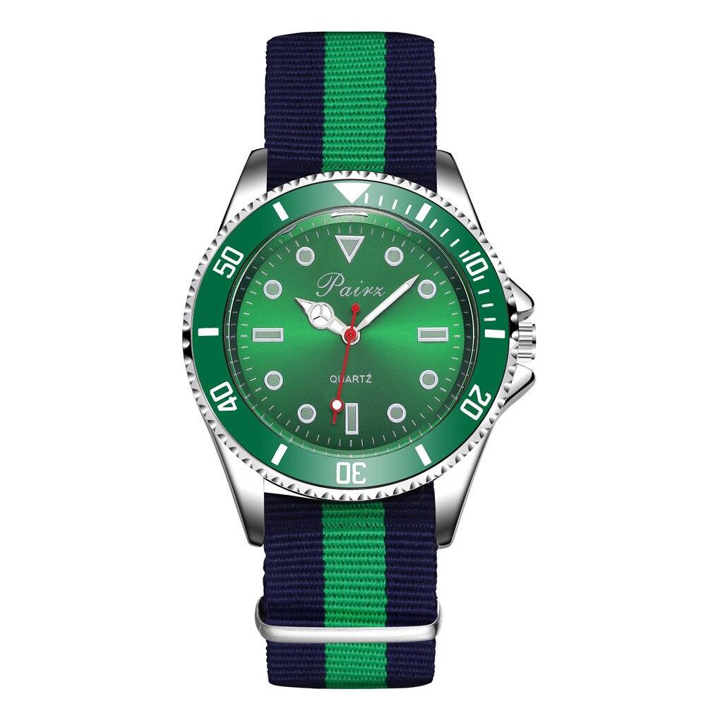 Watch Colour Stripe Weave Bring Quartz Motion Wrist Watch Watch
