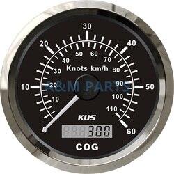 KUS prędkościomierz gps łódź Marine Truck analogowy wskaźnik prędkości 0 60 węzłów 110 km/h|Prędkościomierze|Samochody i motocykle -